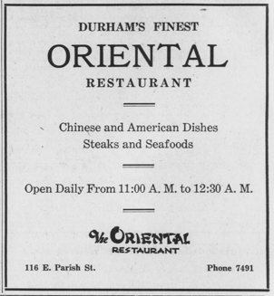 The Oriental Durham Chinese Restaurants Of North Carolina